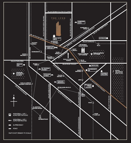 The Luxe by infinitum location map