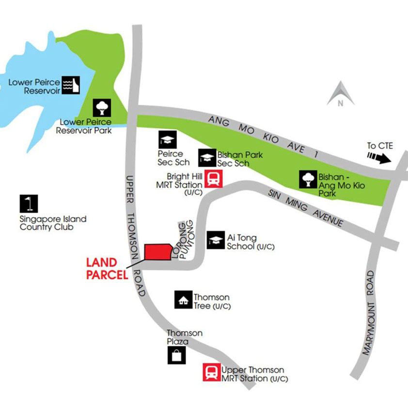 Location map of Thomson Impressions apartment tower