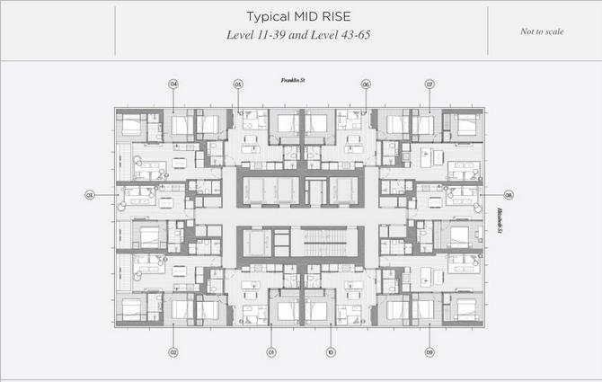 Mid level floor layout plan