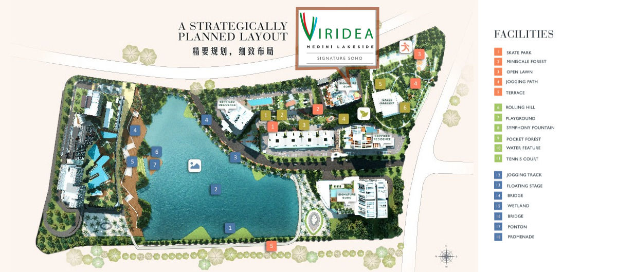 Viridea Medini Lakeside siteplan
