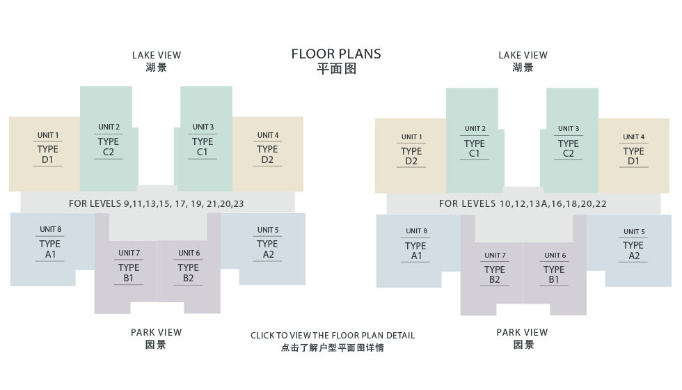 Viridea Signature SOHO floorplate plan