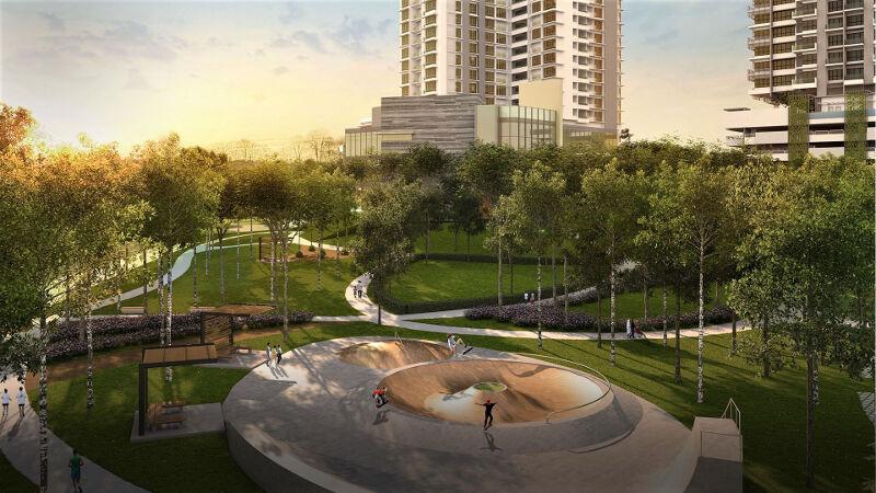 Skater and playground park