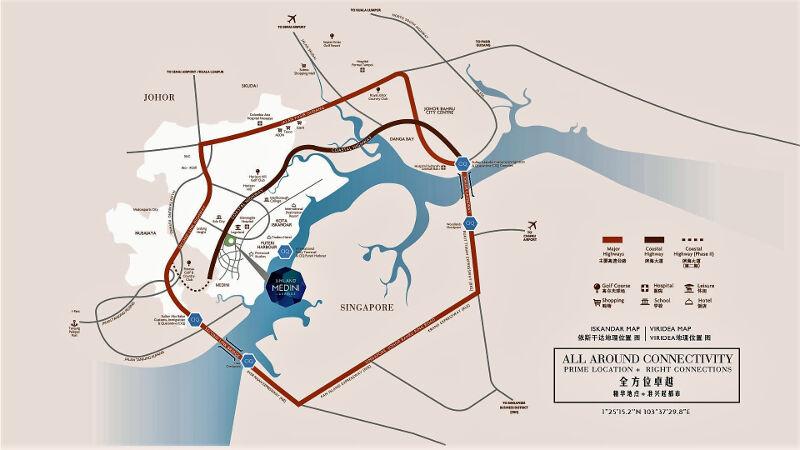 Viridea Medini Lakeside location map