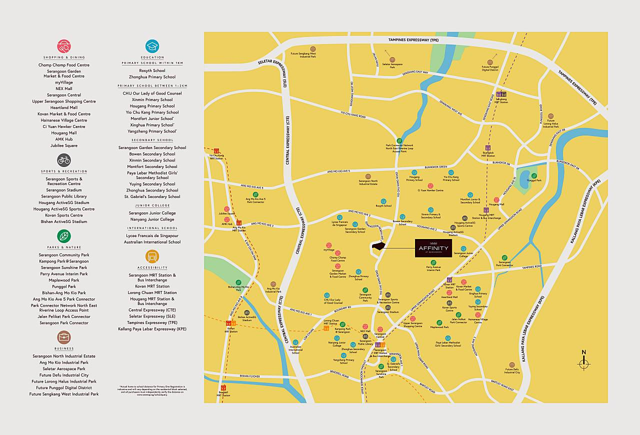Affinity location and amenities