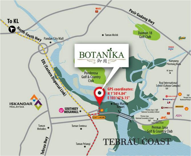 botanika location map