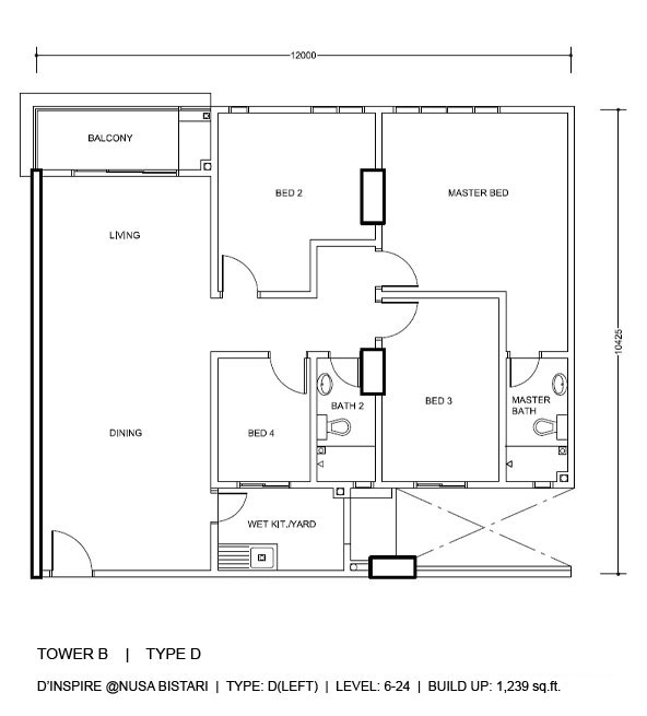 4 bedroom floorplan