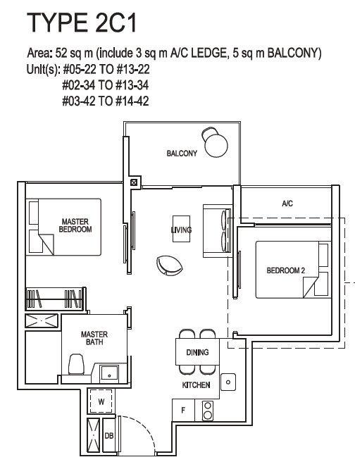 2 bedroom compact 2C1