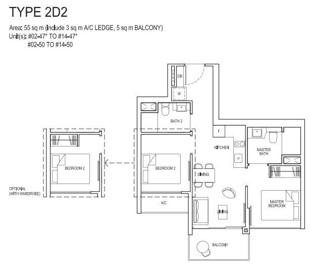 2 bedroom deluxe 2D2