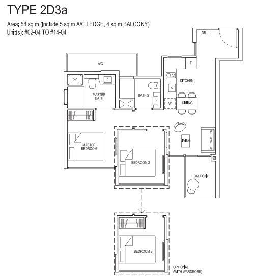 2 bedroom deluxe 2D3a