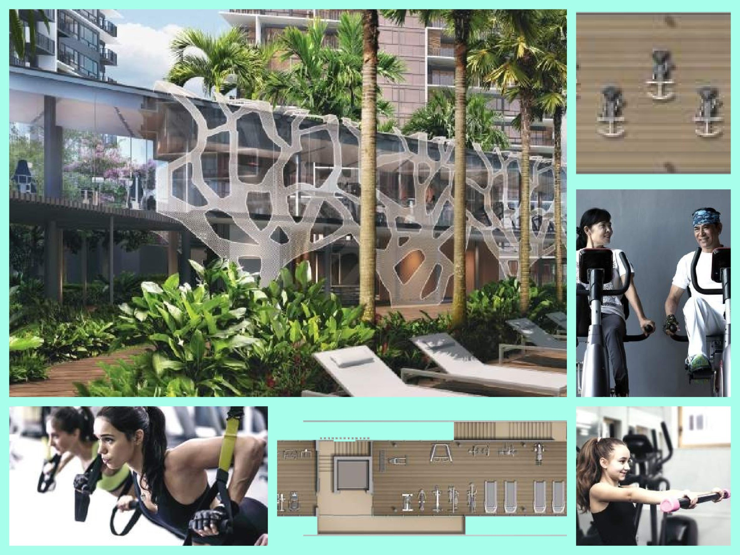 body collection of facilities at Grandeur Park Residences