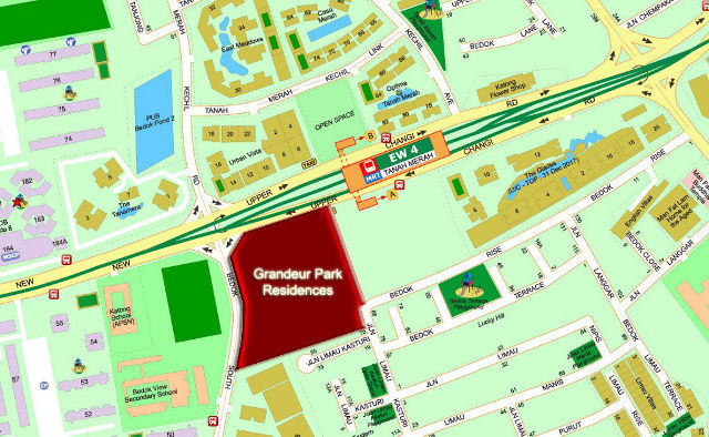 Grandeur Park Residences location map