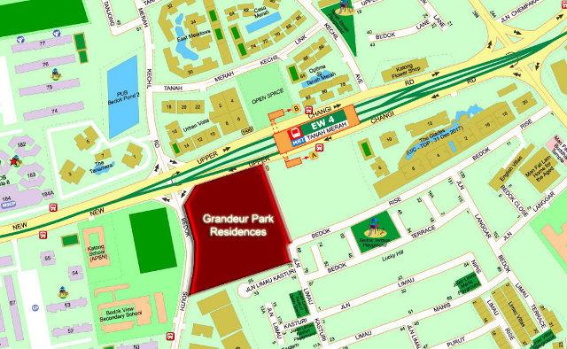 Grandeur Park Residences location map