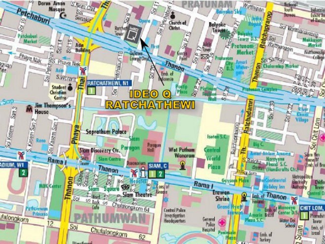 Ideo Q Ratchathewi location map