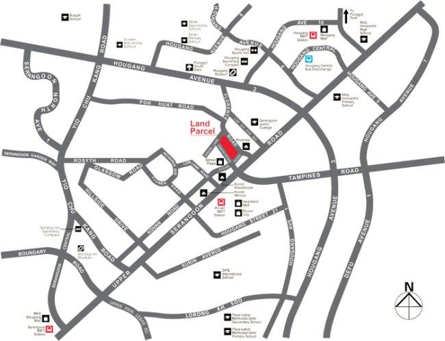 kovan regency location map