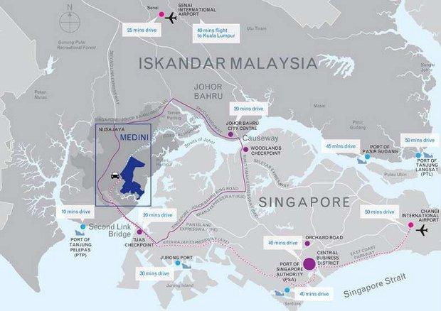 Medini location map