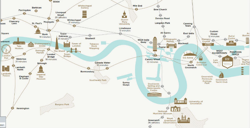 royal wharf location map
