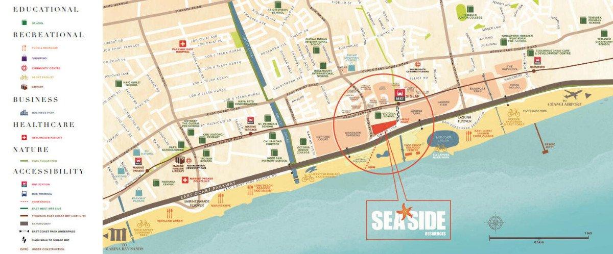 seaside-residences neighborhood map