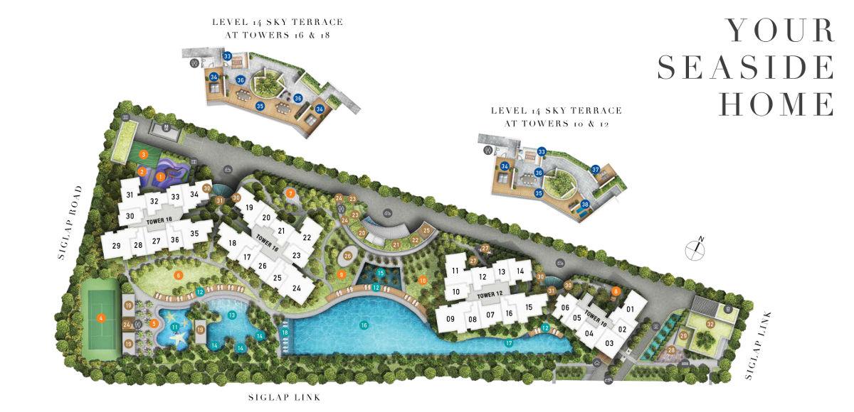 Seaside Residences site plan