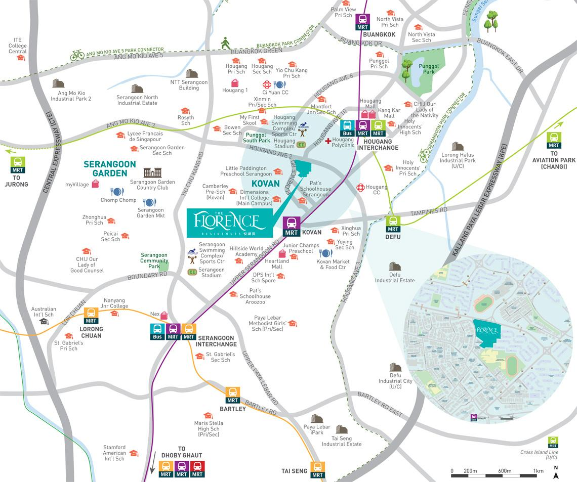 The Florence Residences location and amenities