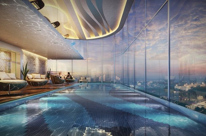 Tri Tower Infinity Pool