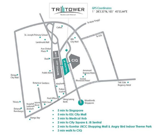 Tri Tower location map